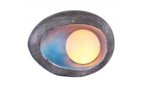 LED-Solarleuchte Stein in silber/blau