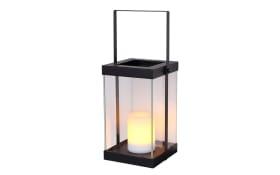 LED-Solarleuchte 33543 in schwarz mit Fire-Effect, quadrat