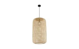 Pendelleuchte Mirena mit Bambusschirm, 39 cm