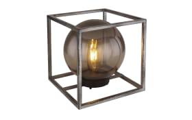 LED-Solarleuchte Würfel in nickel antik/rauch, 23 cm