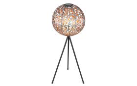 LED-Standleuchte Solar in silber metallic/schwarz, 80 cm