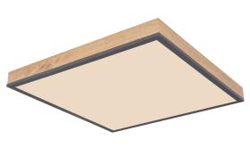 LED-Deckenleuchte CCT Doro in holz/graphit, 45 x 45 cm