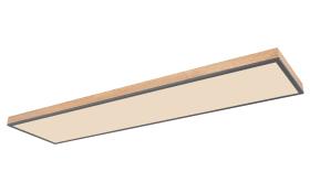 LED-Deckenleuchte CCT Doro in holz/graphit, 120 x 30 cm