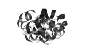 Deckenleuchte Curly II in schwarz/chromfarbig