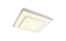 LED-Deckenleuchte Clipper II in silberfarbig/weiß