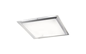 LED-Deckenleuchte Era CCT in weiß/silber, 45 x 45 cm