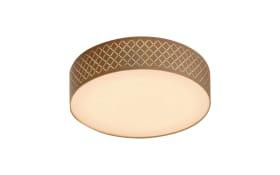 LED-Deckenleuchte Charming in braun/goldfarbig