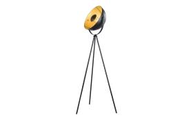 Standleuchte Fame Light in schwarz/goldfarbig, 160 cm