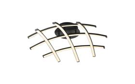 LED-Deckenleuchte Race in schwarz/weiß/alufarbig