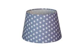 Lampenschirm Sterne in blau, 20 cm