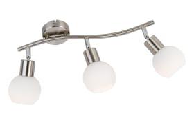 LED-Deckenleuchte Loxy in nickel matt, 3-flammig