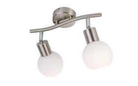 LED-Strahlerleiste Loxy in nickel matt, 2-flammig