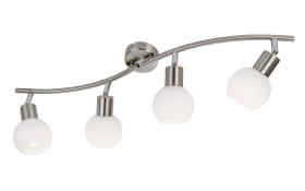 LED-Deckenleuchte Loxy in nickel matt, 4-flammig