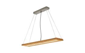 LED-Pendelleuchte Brad aus Holz. 100 cm
