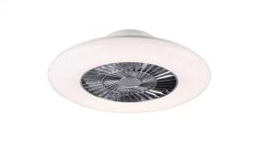 LED Deckenleuchte/Ventilator Visby in weiß, 59,5 cm
