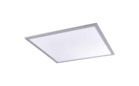 LED-Deckenleuchte Flat CCT in silber/weiß, 45 x 45 cm