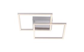 LED-Deckenleuchte Iven in stahlarbig,  51,5 x 36 cm