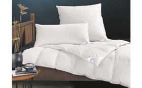 Daunenkassettenbett Pronight Bio Cotton medium in weiß, 135 x 200 cm