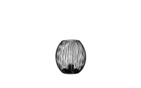 Laterne Posto in schwarz, 18 cm