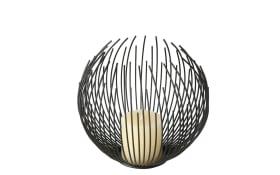 Windlicht Cylon in schwarz, 21 cm