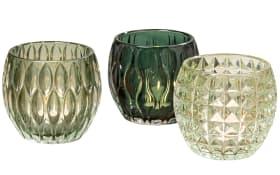 Windlicht Aliza in grün, 9 cm