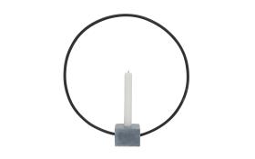 Kerzenhalter Congo in grau, 38 cm