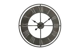Wanduhr Duro in schwarz, 78 cm