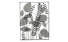 Wandobjekt Mellow in schwarz, 60 cm