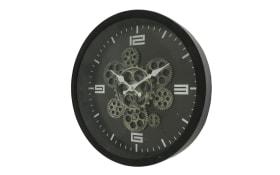 Wanduhr Big Time in schwarz, 38 cm