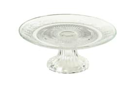 Tortenplatte Relief aus Glas, 18 cm