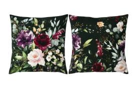 Kissenhülle Deep Flowers in apple/fir, 40 x 40 cm