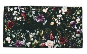 Tischläufer Deep Flowers in apple/fir, 50 x 140 cm