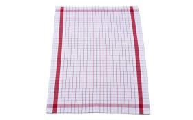 Geschirrtuch in rot mit Karo-Muster, 50 x 70 cm