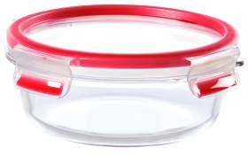 Frischhaltedose Clip & Close aus Glas in rot, 0,6 l