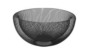 Obstkorb rund in schwarz, 29,5 cm