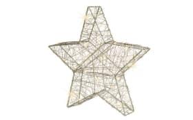 30 LED Micro Stern in weiß, 30 x 29 cm
