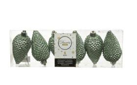 Zapfen in salbeigrün Glitter
