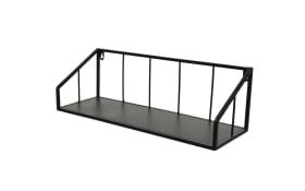 Wandregal in schwarz, 19 x 60 x 18 cm