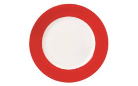 Teller flach Vario in rot, 26,5 cm