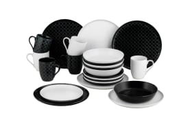 Kombiservice Black and White, 24-teilig