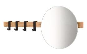 Garderobenleiste mit Spiegel aus Eiche