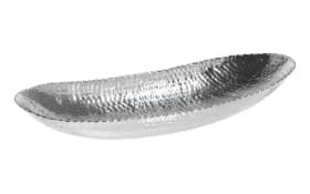 Schale aus Aluminium in silber, 51 x 8 x 20 cm