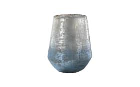 Vase in blau/silber, 20 cm