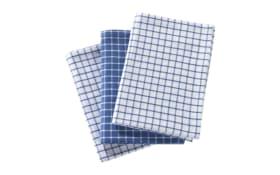 Geschirrtücher in blau kariert, 3-er Set
