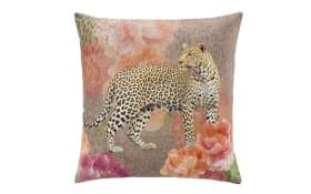 Velourkissen Leopard gefüllt, ca 50 x 50 cm
