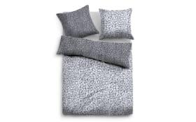 Bettwäsche Flanell in grey, 135 x 200 cm