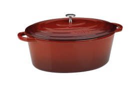 Bräter Calido in rot/oval, 9,5 l