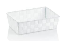 Aufbewahrungskorb Alvaro in weiß, 29,5 x 20,5 cm