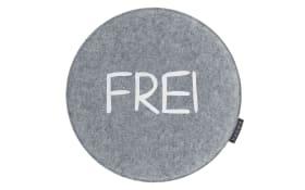 Stuhlkissen Avaro in grau: Frei/Besetzt, 35 cm