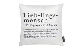 Kissenhülle Wortart Lieblingsmensch, 40 x 40 cm